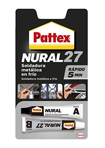Pattex Nural 27, soldadura metálica reparadora en frío con secado rápido, 22ml