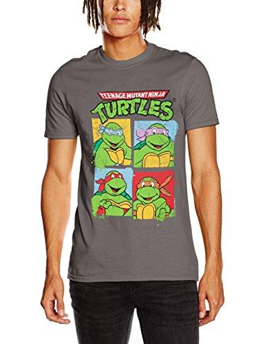 CID - Teenage Mutant Ninja Turtles - Group Shot, Camicia Uomo, Nero (Black), Large