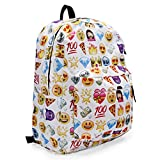 KING DO WAY Womens Travel Backpack Shoulder School Book Bag Rucksack White 32 x 13 x 42cm