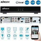 KKmoon 4CH Canales AHD DVR/ HVR/NVR Full 1080N/720P (Grabador de Video Digital, HDMI P2P, Onvif, Android/iOS APP, Detección de Movimiento, Email Alarma, PTZ para HD 2000TVL Cámara de Vigilancia CCTV)