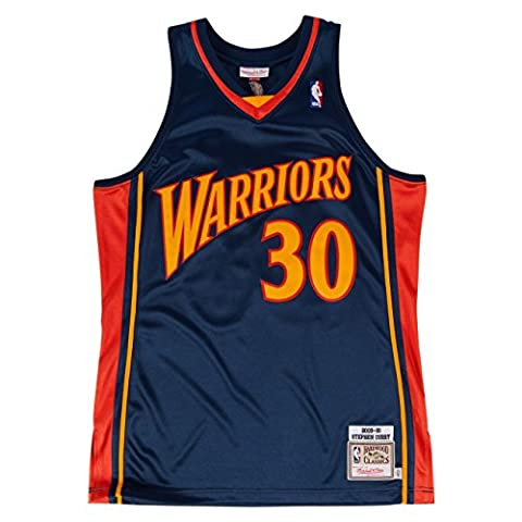 Stephen Curry Golden State Warriors Mitchell & Ness Authentic 2009 Navy Jersey Maillot