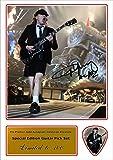 Bedruckte Plektren Company Angus Young AC/DC Signiertes Foto und passende Gitarre Plektrum (Autogramm, und Plektrum Set)