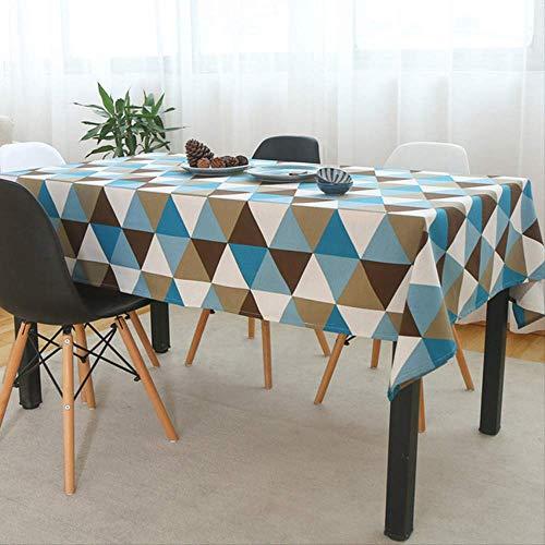 AOUP-Tischdecke, Europäische Dreieckige Karierte Tischdecke, Hauptdekoration-staubdichte Und wasserdichte Tischdecke Tischdecke 90x90cm Tisch Colth 1