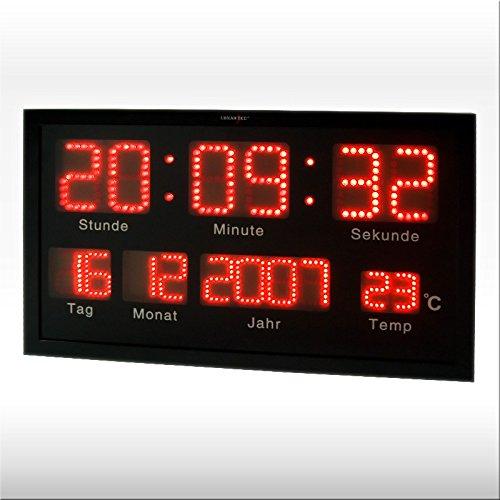 Digitale Wanduhr 'OFFICE' mit 412 LED's - Das 2-zeilige Display mit modernster LED-Technik macht diese Uhr zu etwas ganz besonderem!