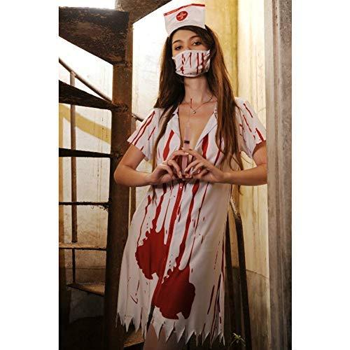 GUAN Sexy Dessous Vampire Krankenschwester Kostüm Cosplay Cosplay Kostüm Halloween Ghost (Vampir Krankenschwester Kostüm)