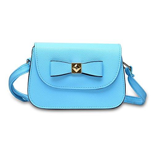 06b9c0ff3c ... Faysting EU borsa a tracolla donna vari colori scelti PU pelle farfalla  decorato stile buon regalo ...