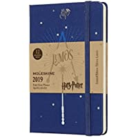 Moleskine DHP12WN2Y19 - Libreta semanal 12m de edición limitada Harry Potter de bolsillo, color azul