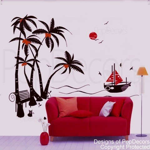 popdecors-alberi-noce-di-cocco-e-barca-21082-83-h-cm-motivo-albero-adesivo-da-parete-per-bambini-sta