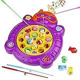 Divertido Juego de Pesca Rotativo Peces Juguete de Electrónico Musical para Niños Niñas 3 4 5 Años