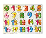 #10: FunBlast Wooden Colorful Learning Educational Board for Kids with Knobs, Educational Learning Wooden Board Tray, Size- 30 X 22 cm, Available in 4 Different Variants (123)