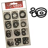 Assorted Size Pack of O Rings Plumbing DIY Air Seal Rubber Tap Sink 'O' Thread Bild