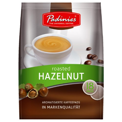 Minges Padinies Kaffeepads Roasted Hazelnut, Kaffee Haselnuss, 18 Pads