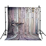 BPS Fond tissu de studio photo pour portraits 2.1x1.5m, fil au planche en bois, décoration de lampe suspendue au mur, matière imperméable Halloween Background