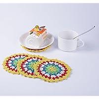 Sottobicchieri, Vintage Ethnic Floral Design Placemat Value Pack, 4 pc