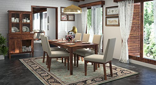 Urban Ladder Malabar Four Seater Dining Table Set (Mahogany)