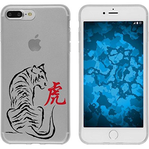 PhoneNatic Case für Apple iPhone 7 Plus Silikon-Hülle Tierkreis Chinesisch M9 Case iPhone 7 Plus Tasche + 2 Schutzfolien Motiv 03