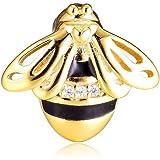 MOCCI 2019 Riflessioni primaverili Queen Bee Clip shine Bead Argento 925 fai da te Adatto per bracciali Pandora originali Gio