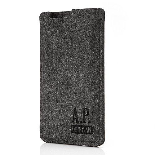 A.P. Donovan - Handytasche Schutzhülle - Filztasche Filzhülle - Handysocke aus Filz - Handy Hülle Tasche aus Stoff Sleeve (iPhone 7/8, Grau)