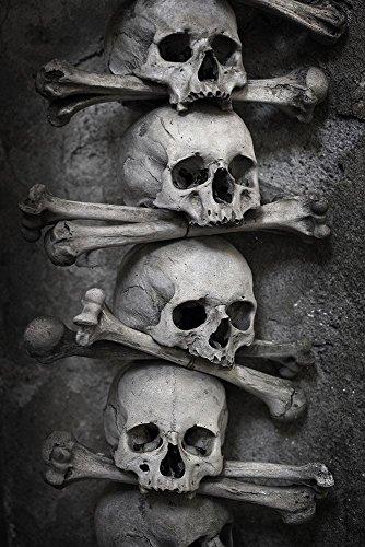 VIMANDO Fensterbild Totenköpfe
