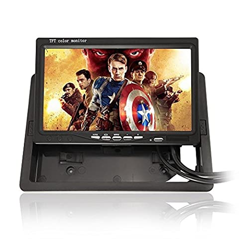 (800*480 350:1 Contrast Ratio) 7 Inch TFT Color LCD Car monitor computer HD digital VGA/AV interface (Support as Computer Screen) Full Color LED Backlight Display Support 1024*768 1280*1024 Input Source for Back up