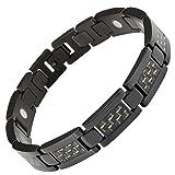 Willis Judd magnetische Herren-Armband aus schwarzen Titan Carbon Fiber in schwarzen