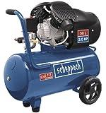 Scheppach 5906101901 Kompressor HC52DC | + Tank 50l, Druckminderer, Kupplungen, Manometer / Doppelzylinder / Fahrvorrichtung / Leistungsstark (3,0 PS Motor / Abgabe 272 l/min / 40 kg / 230 V)