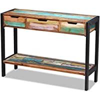 Lingjiushopping Sideboard mit 3Schubladen aus Massivholz Antik Material: Holz massiv antik + Rahmen in Edelstahl... preisvergleich bei billige-tabletten.eu
