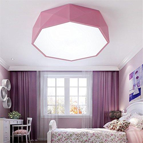 er kindergarten Teaching Centre der Mutter - - kleine Boutiquen für Jungen und Mädchen Schlafzimmer Farbe Geometrie LED Deckenleuchte, 420 mm ()