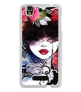 Colourful Girl Graffiti 2D Hard Polycarbonate Designer Back Case Cover for YU Yureka :: YU Yureka AO5510