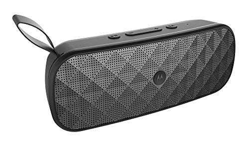 Motorola Sonic Play+ 275 - Altavoz Portatil Bluetooth, Sonido estéreo, Radio FM, Micro SD, Aux-In - IP54 Waterproof - 10 horas de juego   15 metros de alcance - negro