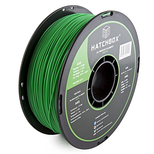 Preisvergleich Produktbild HATCHBOX ABS Filament für 3D Drucker - 1,75 mm grün 1 kg Spule - MakerBot RepRap MakerGear Ultimaker uvm.