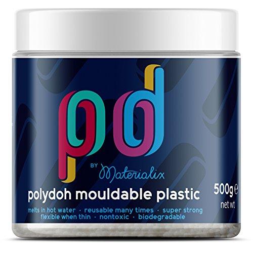 Polydoh  formbarer  Kunststoff (500g) [polymorph, plastimake, instamorph] (Form Kunststoff-maske)