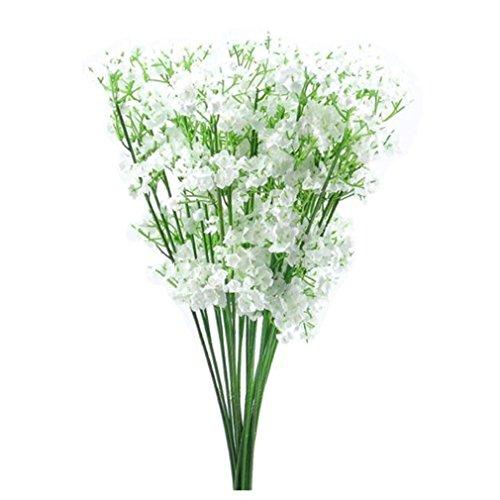 HARRYSTORE Artificial flor de Gypsophila falso de seda de la boda del ramo decoración del hogar Decoración de la decoración de las estrellas de cielo (Blanco)
