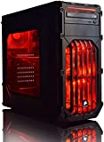 ADMI ULTRA GAMING PC - AMD FX-6350 High Spec Red LED Home, Family, Multimedia Desktop Gaming Computer with Platinum Warranty: Powerful Six Core 4.20GHz Turbo CPU, NVIDIA GTX 750Ti 2GB HDMI Graphics Card, 8GB 1600MHz DDR3 RAM, 1TB Hard Drive Storage, HDMI Output 1080p, High Speed USB 3.0, 150Mbps WiFi included, Pre-Installed with Windows 10 Operating System