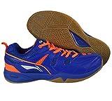 Li-Ning Alpha Badminton Shoes, UK 9 (Blue/Orange)