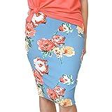 CICIYONER Damen Röcke Damenmode Party Cocktail Rock Kleider Damen Sommer gedruckt gestreiften Rock