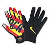 NIKE Herren Torwarthandschuhe FC Barcelona Stadium, Black/Red/Yellow, S, GS0265-067