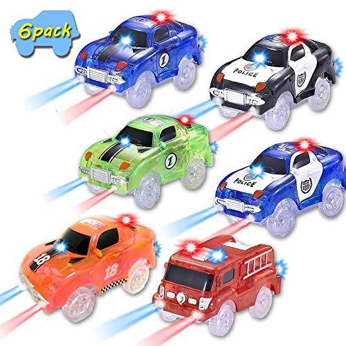 codomoxo Auto für die magischen Gleise Circuit Flexibles und leuchtendes Spielzeuggeschenk, damit Kinder wachsen - im Fernsehen gesehen(6 Packung) (Die Mitte Halloween Vi)