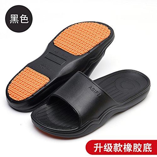 DogHaccd pantofole,Home pantofole donne indoor estate anti-slittamento raffreddare bagno pantofole bagno soft coppie di spessore piano casa pantofole per uomini Nero1