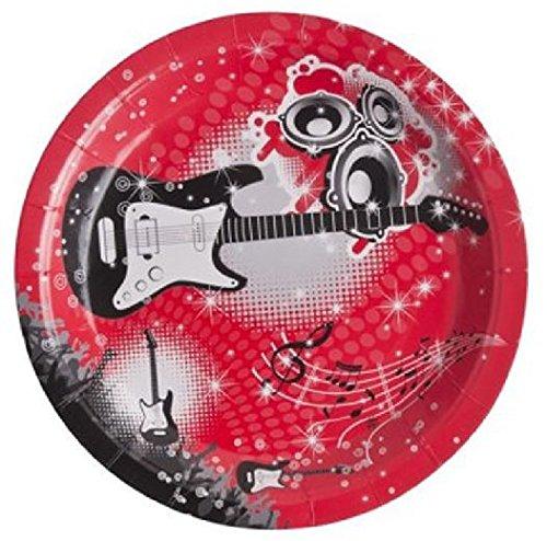 Assiette jetable - Music Rock