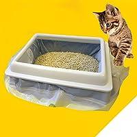 Zantec 1 bolsa de (7PCS), bolsa para retrete de gato, bolsa resistente para caca de mascota, Cat Litter Bag Kitten Hygienic Litter Box Liners Pet Supplies (Large)