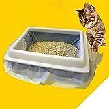 EDTara 1 Bag of (7PCS) Cat Litter Bag Kitten Hygienic Litter Box Liners Pet Supplies (Large) Large