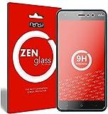 nandu I ZenGlass [2 Stück] Flexible Glas-Folie für Wiko Lenny 4 Panzerfolie I Display-Schutzfolie 9H I (Kleiner Als Das Gewölbte Display)