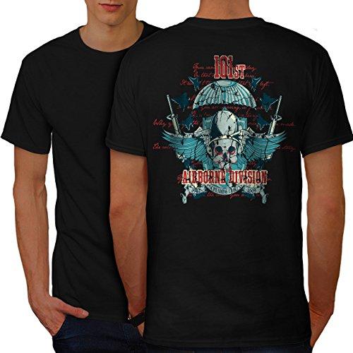 Airborne Aufteilung Schädel Krieg Flug Herren S T-shirt Zurück | Wellcoda (Dunklen Airborne T-shirt)