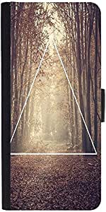 Snoogg Forest View Graphic Snap On Hard Back Leather + Pc Flip Cover Samsung ...