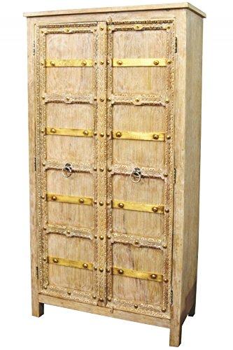Orientalischer Grosser Schrank Kleiderschrank Bilel 185cm hoch | Marokkanischer Vintage Di
