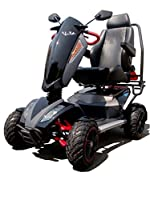 TGA Mobility Vita X Deluxe 4 All Terrain Class 3 Mobility Scooter - Metal Black
