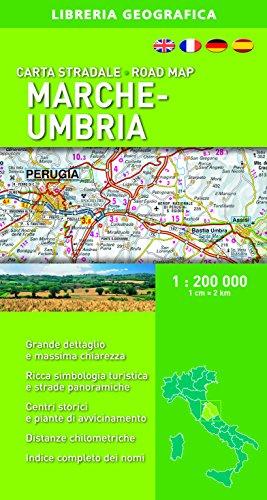 Carta Stradale Marche e Umbria 1: 200 000