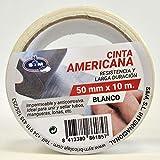 S & M ruban Américaine Blanche 50mm X 10m saneaplast- ruban adhésif Américaine isolant–rouleau de 10mètres