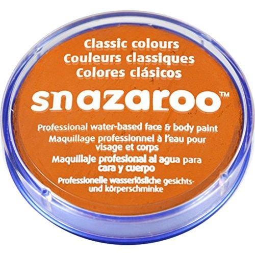 Peinture classique pour visage et corps par Snazaroo, 18 ml, couleur individuelle, abricot - Orange -